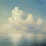 Ivan Konstantinovich Aivazovsky (1817 - 1900) Clouds over the sea. Calm Oil on canvas, 1889 112x146 cm (44.09